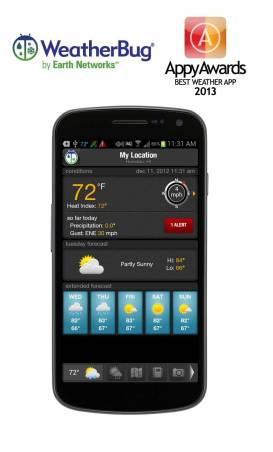 WeatherBug - Appy Award