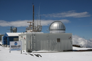 The observatory near the summit of Mauna Loa has measured carbon dioxide concentrations since 1958.