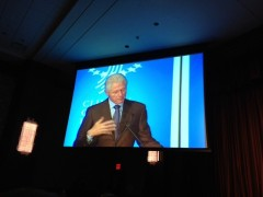 President Clinton speaks at the CGI Mid-Year Meeting in New York.