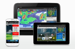 The new WeatherBug app for Android.
