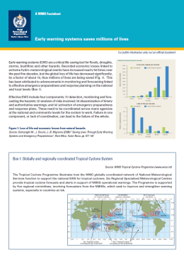WMO fact sheet